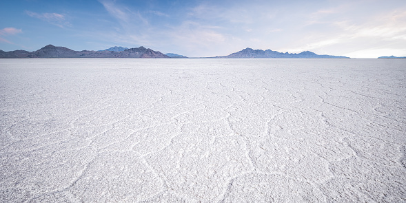 Landscape with salt flats and mountains - gettyimageskorea