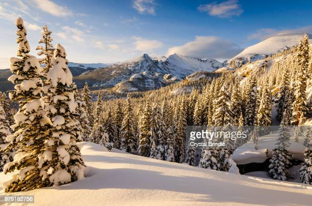 Landscape with snowy mountain, Rocky Mountain National Park, Colorado, USA