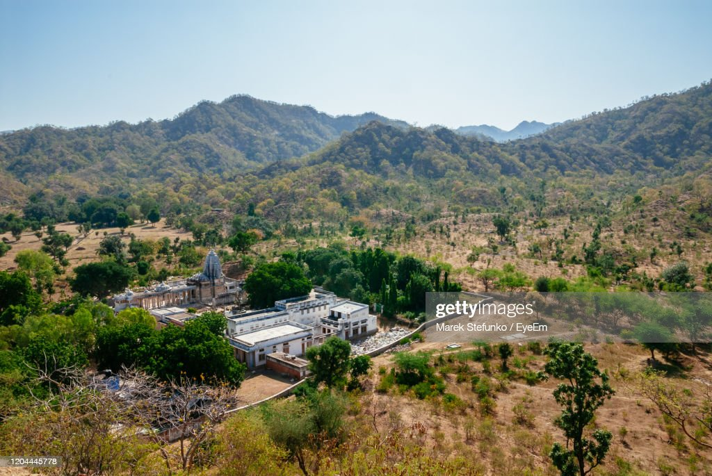 Landscape With Sun Temple In Ranakpur : Stock Photo