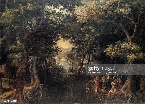 Landscape with the Apostle Philip Baptizing the Eunuch, by David Vinckboons, ..