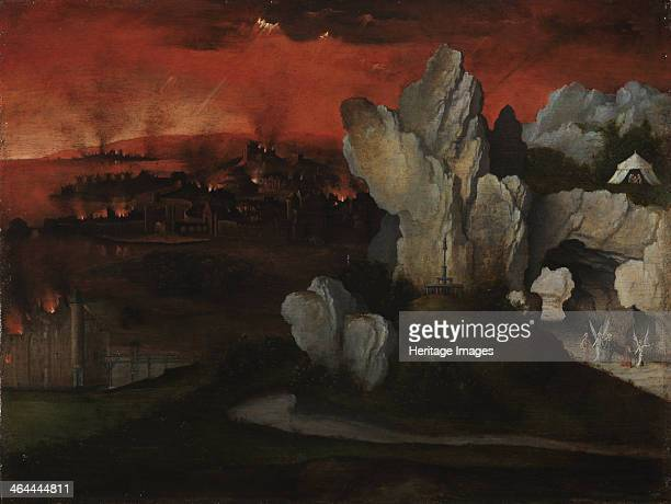 Landscape with the Destruction of Sodom and Gomorrah c 1520 Found in the collection of the Museum Boijmans Van Beuningen Rotterdam