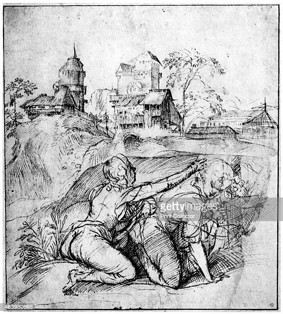 'Landscape with Two Youths' c1510 A print from Titian Paintings and Drawings introduction by Hans Tietze Phaidon Press Vienna 1937 Found in the...