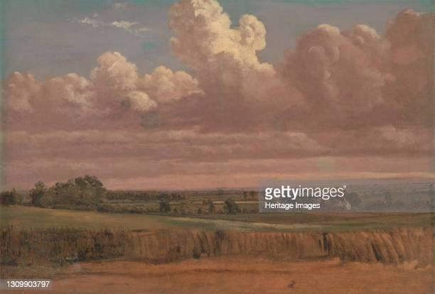Landscape with Wheatfield;Cornfield under Heavy Cloud;Cornfield under Heavy Clouds, ca. 1850s. Artist Lionel Constable. .