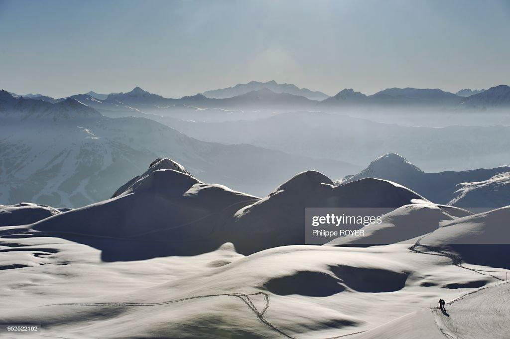Landscape, La Plagne, France : News Photo