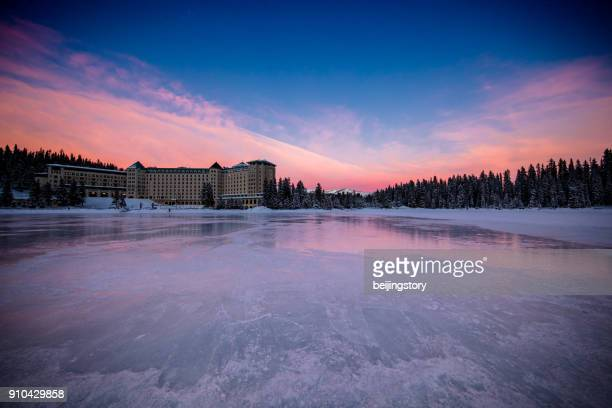 landscape-lake louise,banff national park,canada - lake louise stock photos and pictures