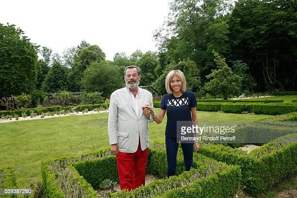 Landscaper Louis Benech and Brigitte Macron attend the 'College Royal et Militaire de ThironGardais' Exhibition Rooms Inauguration on June 10 2016 in...