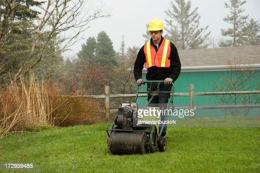 Landscaperlawn Care Worker Stock Photo Getty Images