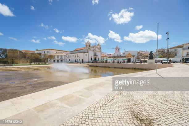 landscapes and street view in lagos, portugal - faro city portugal fotografías e imágenes de stock