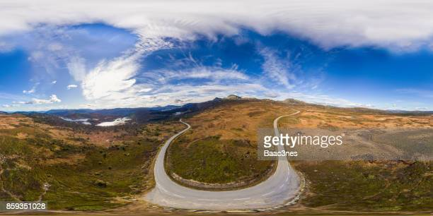 360 VR Landscapes - Mountain road to Gaustatoppen, Norway
