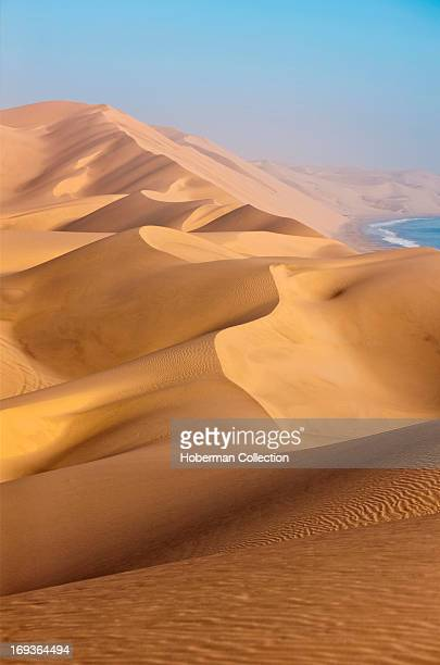 Landscapes of sand dunes at Naukluft Park in Namibia