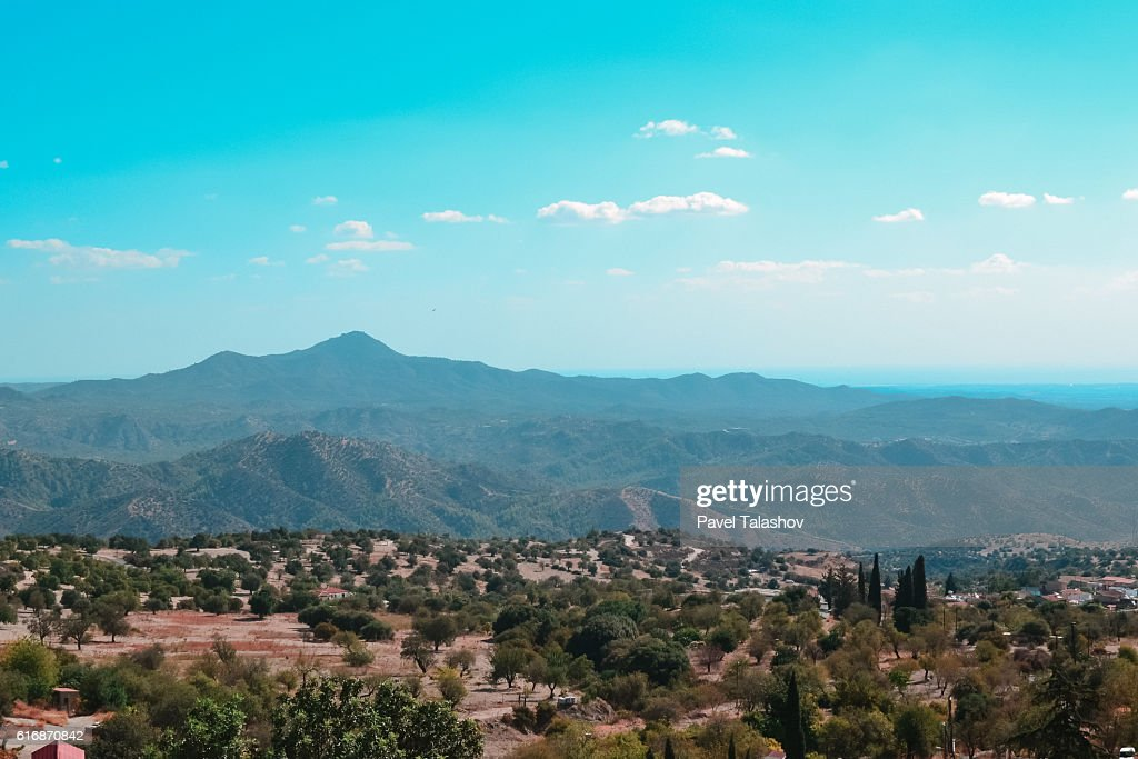 landscapes of the island Cyprus : Stock Photo