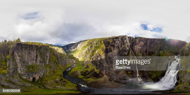 360 VR Landscapes - Vøringfossen waterfall in Eidfjord, Norway