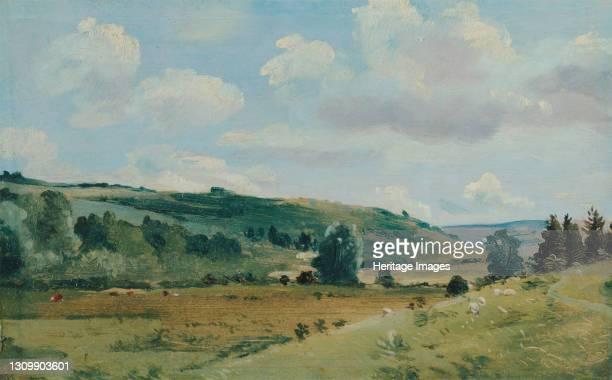 Landscape;Summer Landscape near Dedham;Summer Landscape near Dedham, between 1849 and 1855. Artist Lionel Constable. .