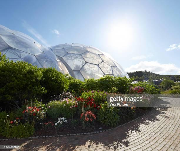 Landscaping around domes Eden Project Bodelva United Kingdom Architect Grimshaw 2016