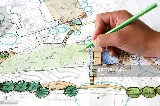 landscaping design - design occupation stock pictures, royalty-free photos & images