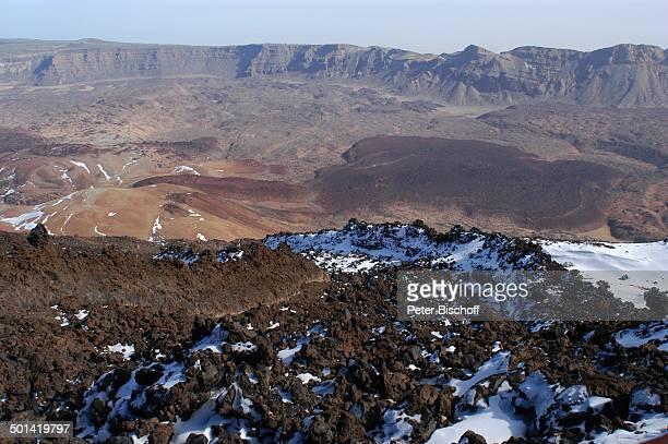 Landschaft im Nationalpark Teide KanarenInsel Teneriffa Spanien Europa Schnee Reise BB DIG PNr 149/2005