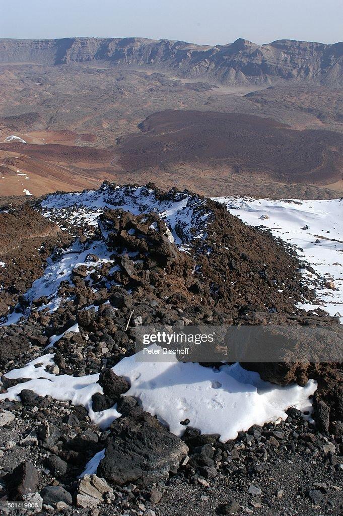 "Landschaft im ""Nationalpark Teide"" (Berg Teide ist 3718 Meter hoch), Kanaren-Insel T : News Photo"