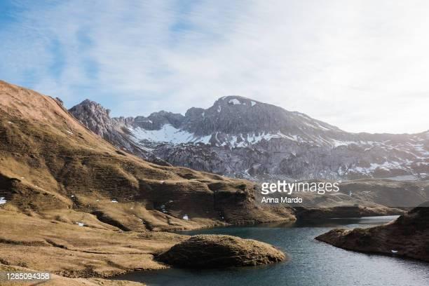 landschaftsaufnahme des schrecksee - bayern stock pictures, royalty-free photos & images