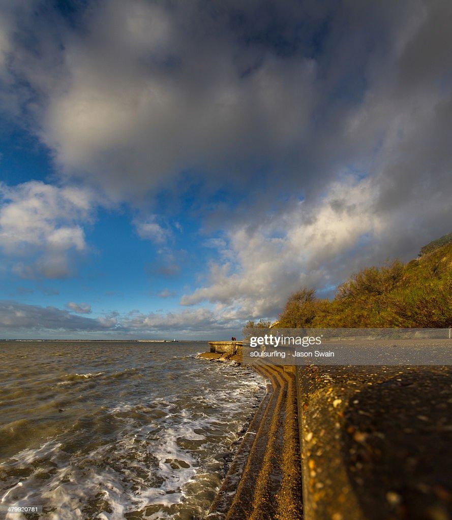 Landslip at Totland Bay : Stock Photo