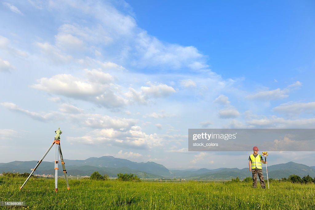 Land-surveyor : Stock Photo