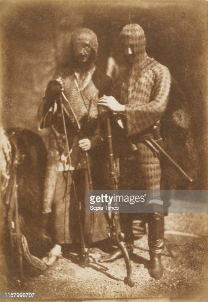 [Lane and Peddie as Afghans] Hill Adamson Scottish active 1843 1848 1843 Salted paper print from a Calotype negative Image 206 x 143 cm