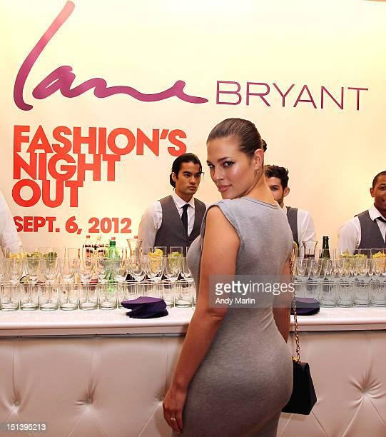 Lane Bryant model and plus size model of the year Ashley Graham poses for a photo during Fashion Guru Jay Manuel Hosts Lane Bryant's Fashion Night...