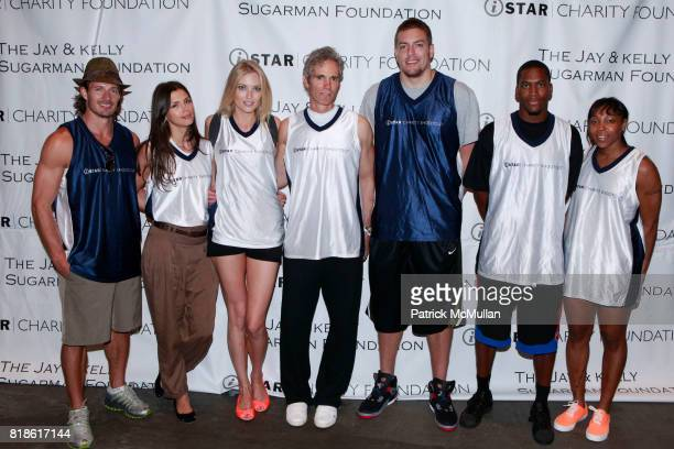 Lane Carlson Alejandra Cata Jennifer Ohlsson Jay Sugarman David Lee Toney Douglas and Cappie Pondexter attend 8th Annual iStar Charity Shootout at...