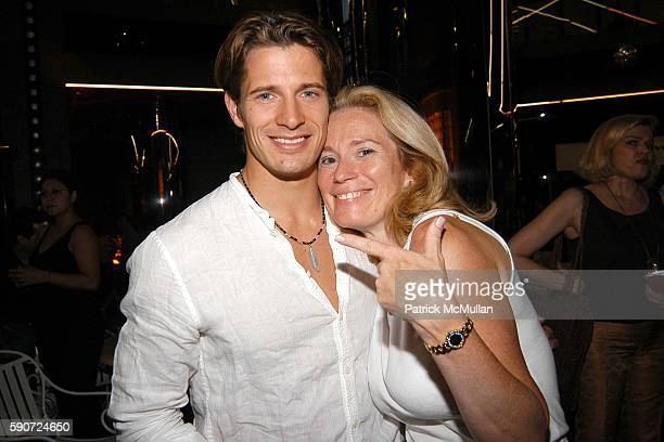 Lane Carlson and Karen Monroe attend Pump Energy Food 5th Restaurant Opening at the Crystal Pavilion at Crystal Pavilion on July 12 2005 in New York...