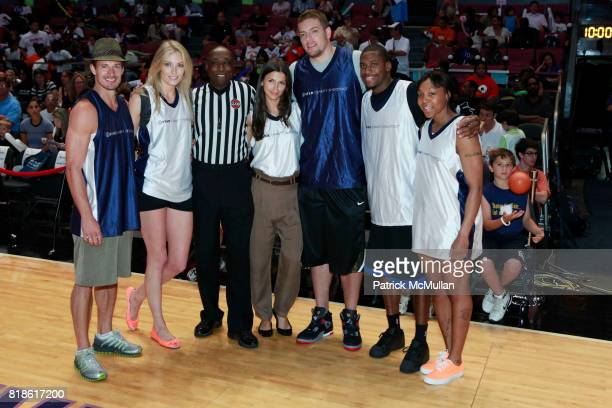 Lane Carlson Jennifer Ohlsson Alejandra Cata David Lee Toney Douglas and Cappie Pondexter attend 8th Annual iStar Charity Shootout at Madison Square...