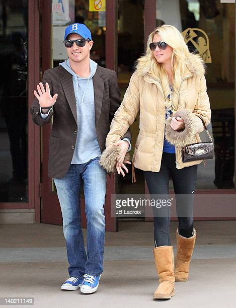 Lane Garrison and Ashley Mattingly are seen on February 29, 2012 in Los Angeles, California.