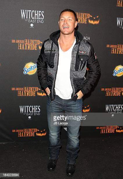 Lane Garrison attends the 5th Annual Los Angeles Haunted Hayride Premiere Night at Griffith Park on October 10 2013 in Los Angeles California