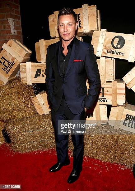 Lane Garrison attends the Bonnie And Clyde series premiere at The McKittrick Hotel on December 2 2013 in New York City