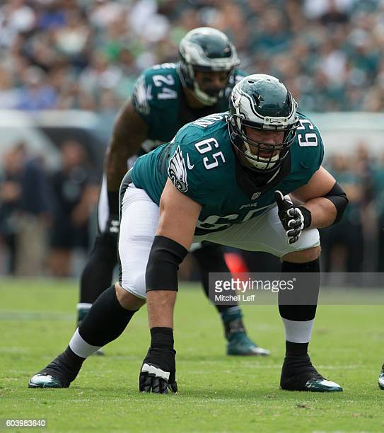 Lane Johnson and Ryan Mathews of the Philadelphia Eagles play against the Cleveland Browns at Lincoln Financial Field on September 11 2016 in...