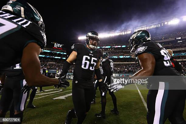 Lane Johnson of the Philadelphia Eagles enters the field before the game against the New York Giants at Lincoln Financial Field on December 22 2016...
