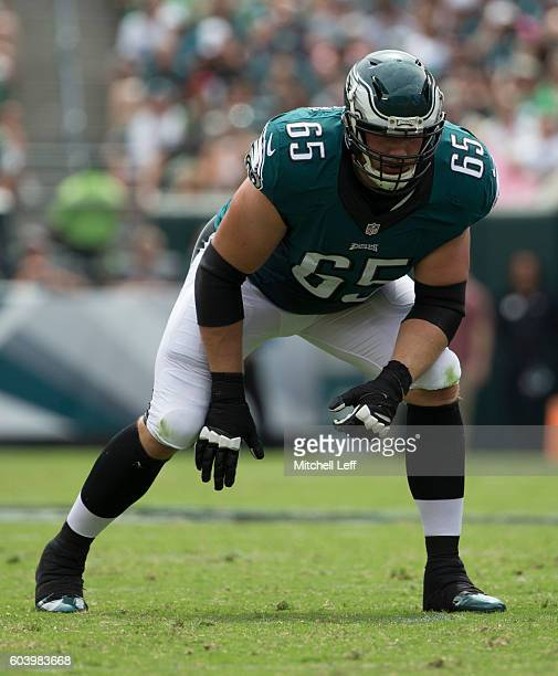Lane Johnson of the Philadelphia Eagles plays against the Cleveland Browns at Lincoln Financial Field on September 11 2016 in Philadelphia...