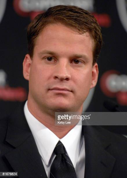 Lane Kiffin at press conference to announce his hiring as Oakland Raiders head coach in Alameda Calif on Tuesday January 23 2007 At age 31 Kiffin is...