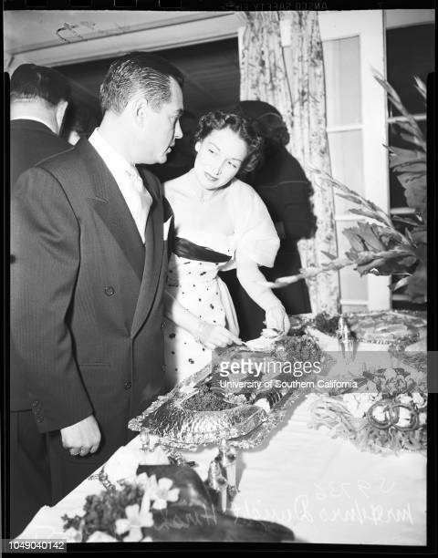 Lane McGinnis Party 30 November 1951 Mr and Mrs Dwight HershDr and Mrs Arnold StevensMr and Mrs Waldo AveryHope StaglianoMr and Mrs John de MilleMr...