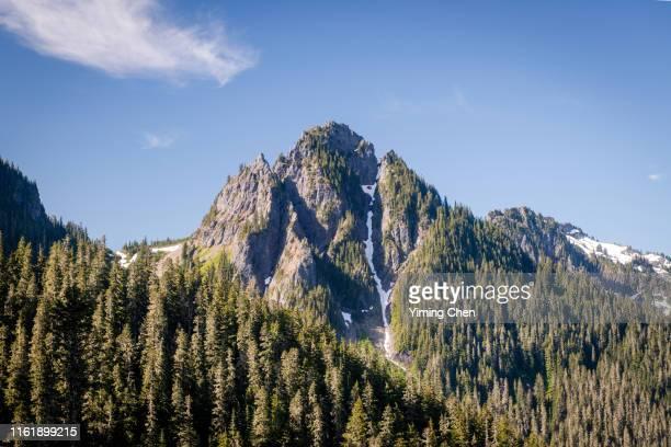 lane peak of tatoosh range - pinnacle peak stock pictures, royalty-free photos & images