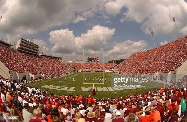 Lane Stadium is sold out to see the Virginia Tech Hokies and the Western Michigan Broncos play on September 11, 2004 at Lane Stadium in Blacksburg,...
