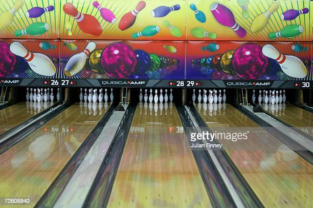 Lanes at the Qatar bowling venue are seen during the 15th Asian Games Doha 2006 previews on November 20 2006 in Doha Qatar