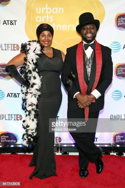 La'Nette Searcy and Dannis Winston attend the Urban Arts Partnership's AmplifiED Gala at The Ziegfeld Ballroom on April 16 2018 in New York City