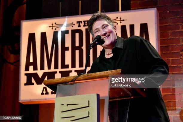 D Lang accepts an award onstage during the 2018 Americana Music Honors and Awards at Ryman Auditorium on September 12 2018 in Nashville Tennessee