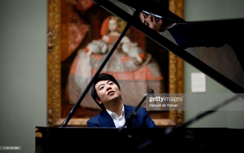 ESP: Lang Lang Performs In Front Of 'Las Meninas' At Prado Museum