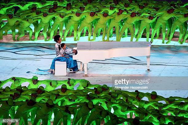 Lang Lang plays the piano during the Opening Ceremony for the 2008 Beijing Summer Olympics at the National Stadium on August 8, 2008 in Beijing,...