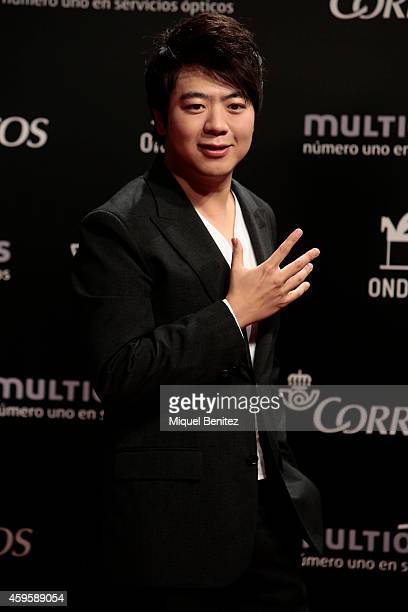 Lang Lang poses during a photocall the 61st Ondas Awards 2014 at the Gran Teatre del Liceu on November 25 2014 in Barcelona Spain