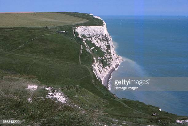 Langdon Bay and Cliffs east of Dover Harbour Dover Kent 20th century The bay is known for the Langdon Bay Hoard a collection of Bronze Age metal...