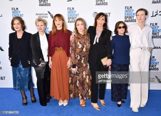 LAngela Winkler Renée Soutendijk Fabrizia Sacchi Elena Fokina Stella Savino and Gala Moody attend the 2019 Film Independent Spirit Awards on February...