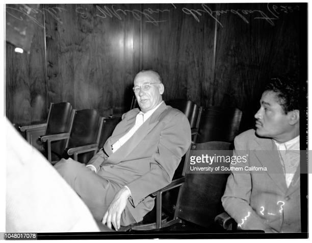 Langendorf con game preliminary June 22 1951 Mrs Fay B Langendorf Charles E Melton Peter M Theodore