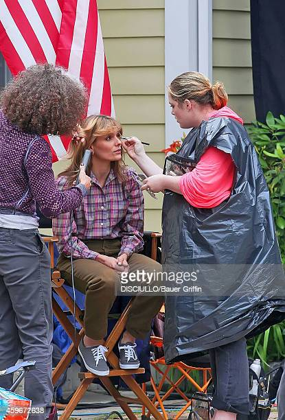 A J Langer is seen on movie set of 'The Americans' on June 04 2012 in White Plains New York