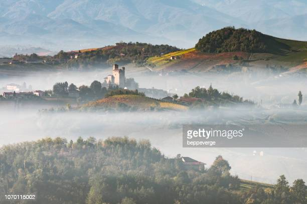 langhe piedmont italy - piedmont italy stock photos and pictures